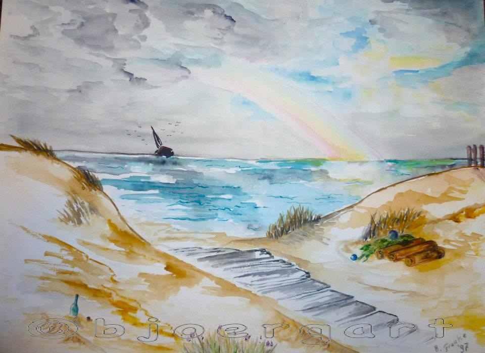 Rainbow on the beach...