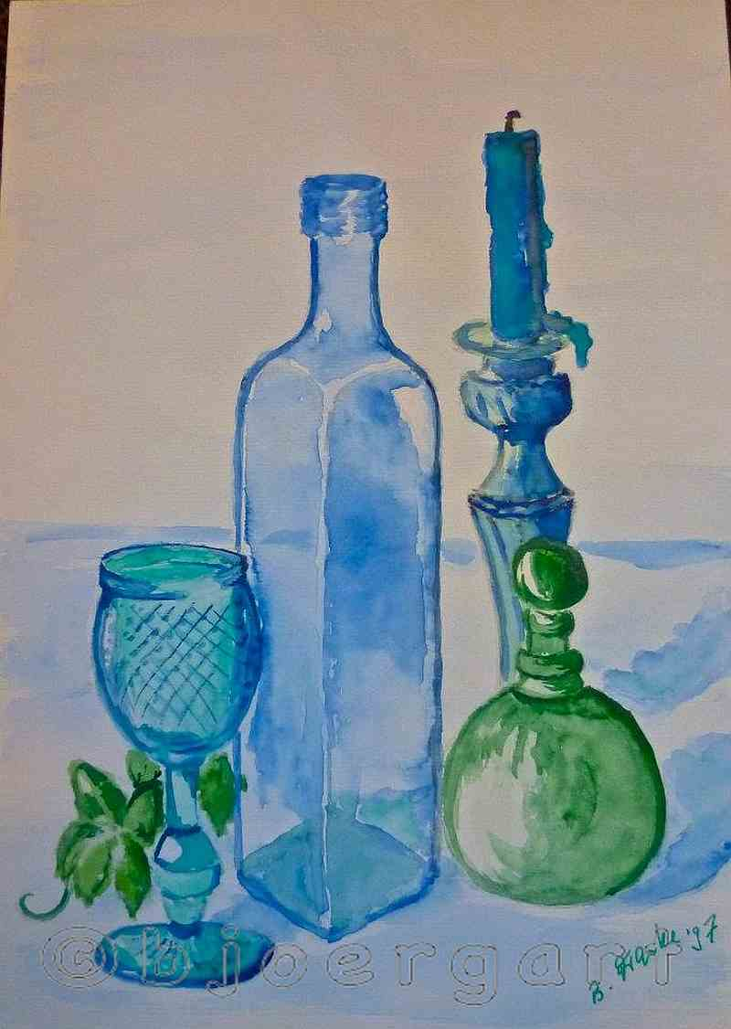 still Life in blue and green...